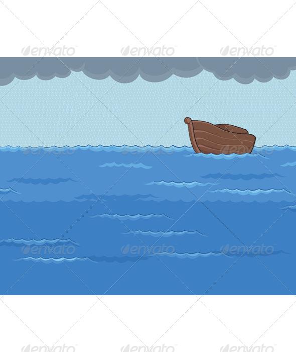 GraphicRiver Ark in the Rainy Sea 6729158
