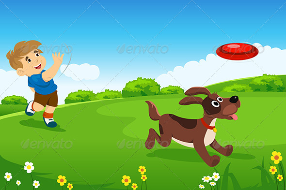 GraphicRiver A Boy Playing with his Dog 6729166