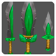 Green-Steel Weapon Set - 3DOcean Item for Sale