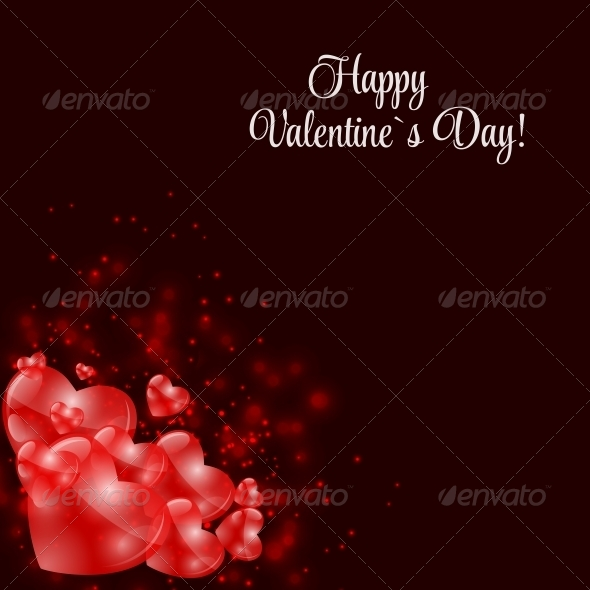 GraphicRiver Happy Valentines Day Card with Heart 6730040
