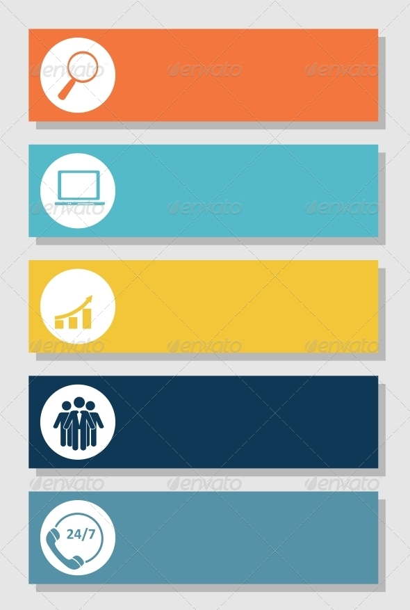 GraphicRiver Infographics Design Flat Elements 6730207