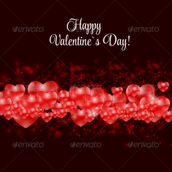 GraphicRiver Happy Valentines Day Card with Heart Vector 6730265
