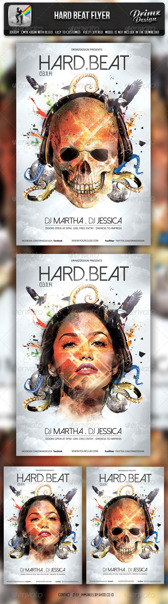 GraphicRiver Hard Beat Flyer 6730375