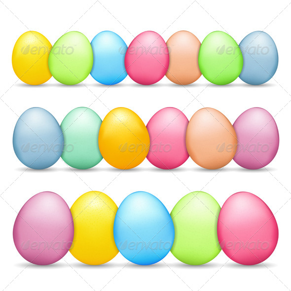 GraphicRiver Colored Easter Eggs 6731463