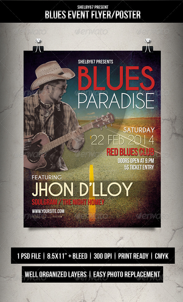 GraphicRiver Blues Event Flyer Poster 6731486