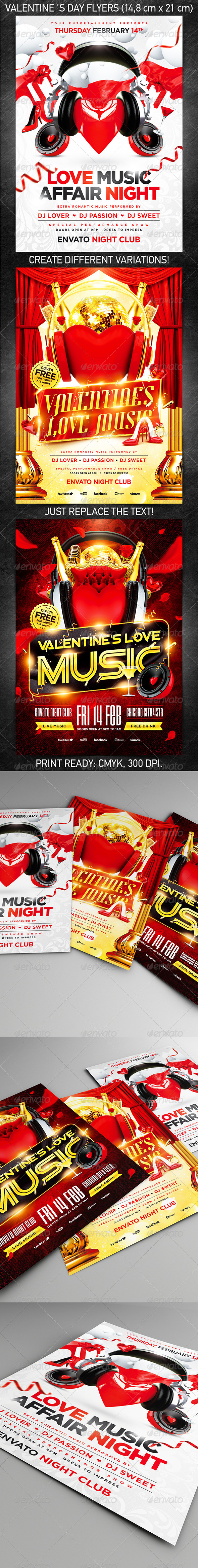 GraphicRiver Valentine`s Day party flyer bundle 6731683