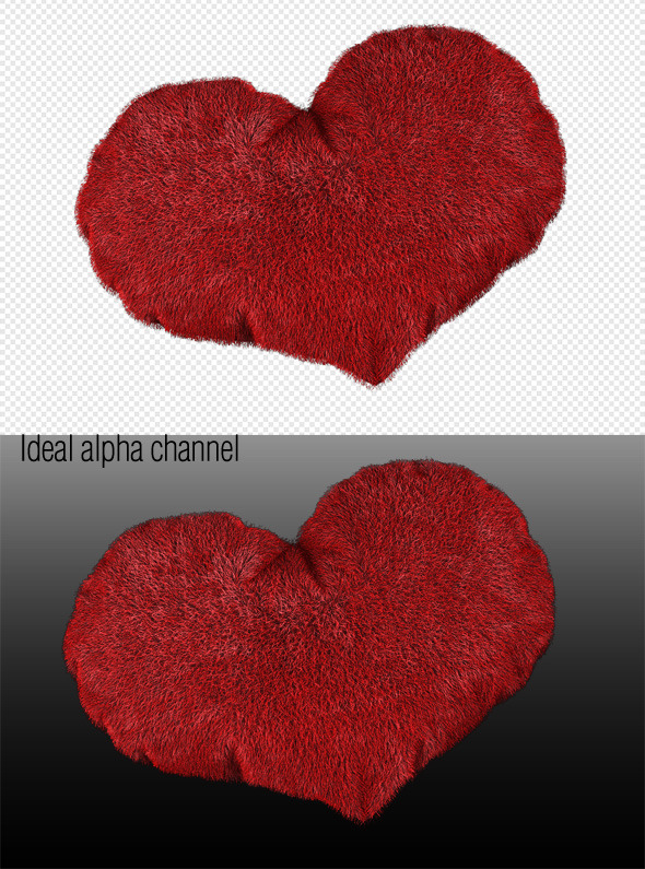 3D love heart valentines day. Scene - 3DOcean Item for Sale