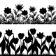 Seamless Flowers and Grass Silhouette - GraphicRiver Item for Sale