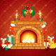 Christmas Fireplace - GraphicRiver Item for Sale