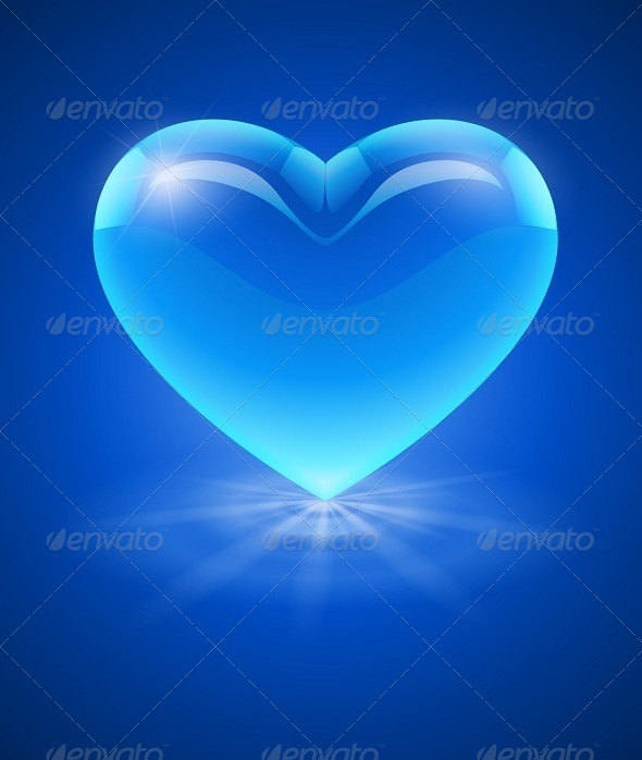 GraphicRiver Blue Glass Heart 6734221