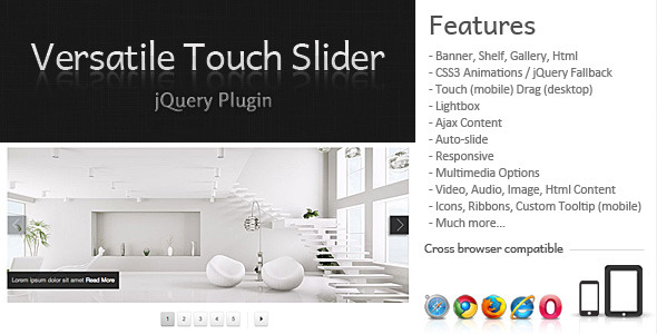 Versatile Touch Slider jQuery Plugin - CodeCanyon Item for Sale