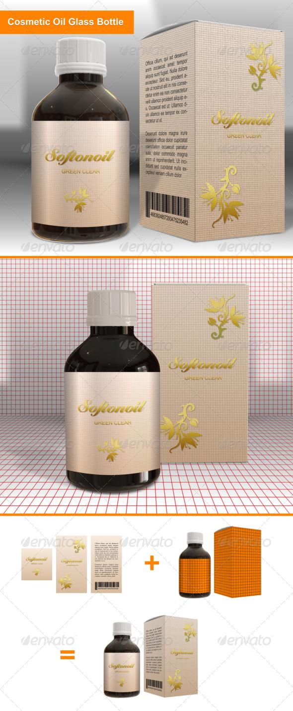 GraphicRiver Cosmetic Oil Glass Bottle 6735246