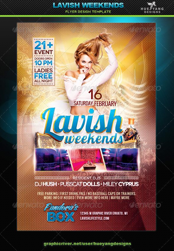 GraphicRiver Lavish Weekends Flyer 6735263