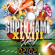 Super Game Football Party Flyer Template - UPDATED - GraphicRiver Item for Sale