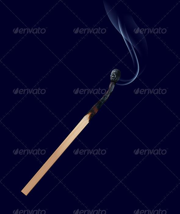 GraphicRiver Burned Match Stick on Dark 6735713