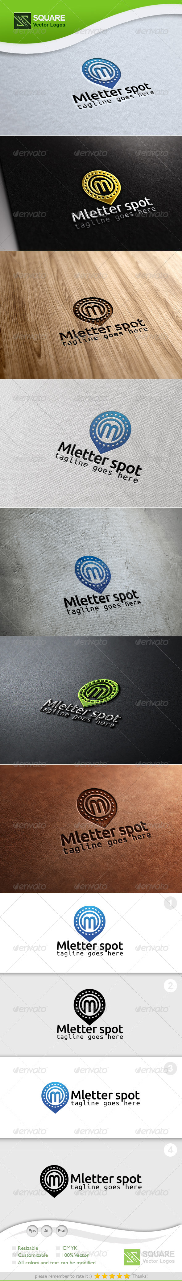 GraphicRiver M Locator Vector Logo Template 6735729