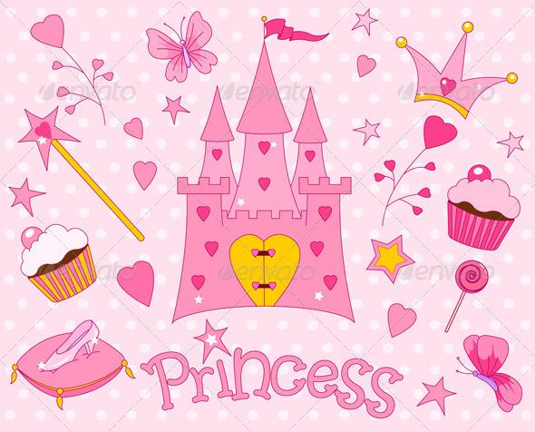 GraphicRiver Sweet Princess Icons 706178