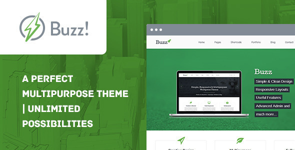 Buzz- Multipurpose WordPress Theme - Corporate WordPress