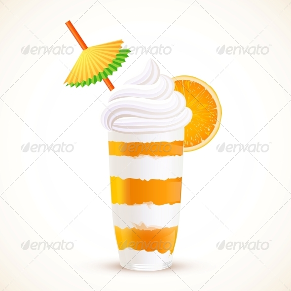 GraphicRiver Orange Sliced Dessert Cocktail 6737104