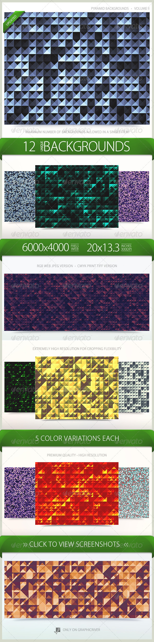 Pyramid Backgrounds Volume 2 - Patterns Backgrounds
