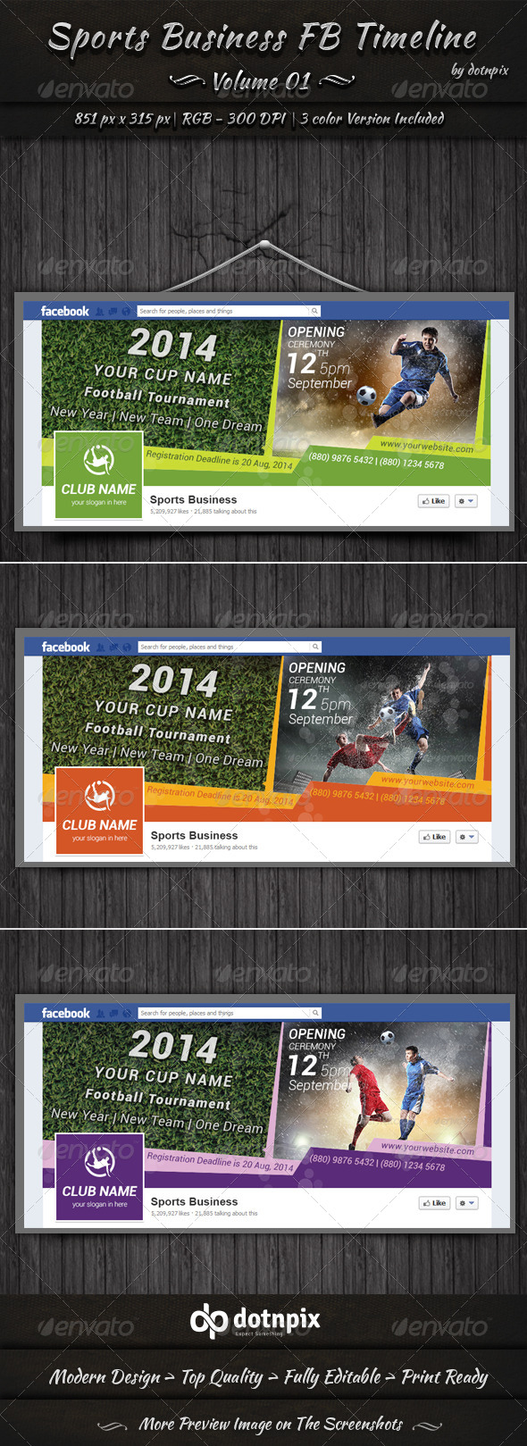 GraphicRiver Sports Business FB Timeline Cover Volume 1 6733202