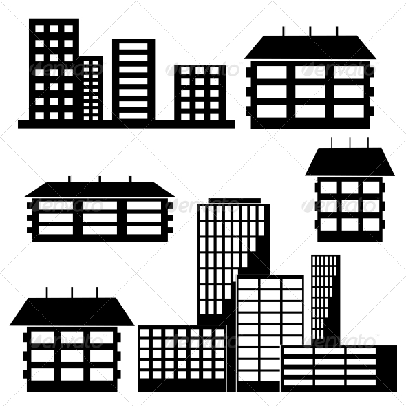 GraphicRiver Houses and Buildings 6739238