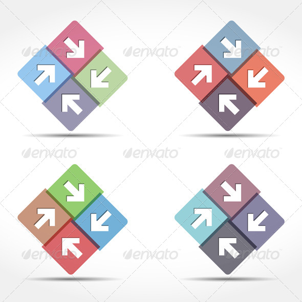 GraphicRiver Abstract Emblem with Arrows 6739324
