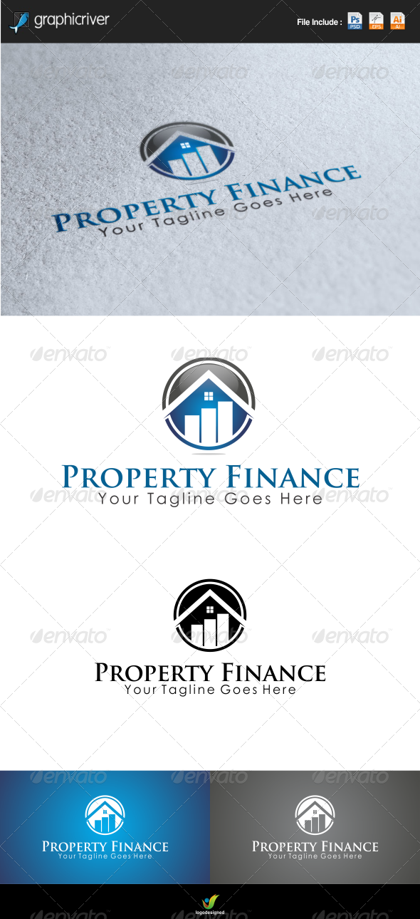 GraphicRiver Property Finance Logo Template 6739327