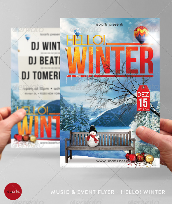 Music & Event Flyer - Hello! Winter - Clubs & Parties Events