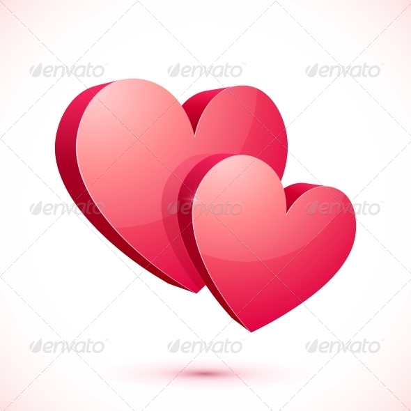 GraphicRiver Red Hearts 6739919
