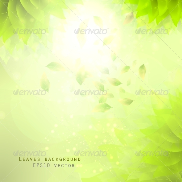 GraphicRiver Green Leaves Background 6740094