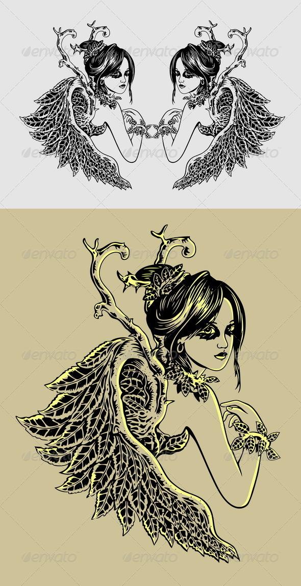 GraphicRiver Angel Illustration 6740770