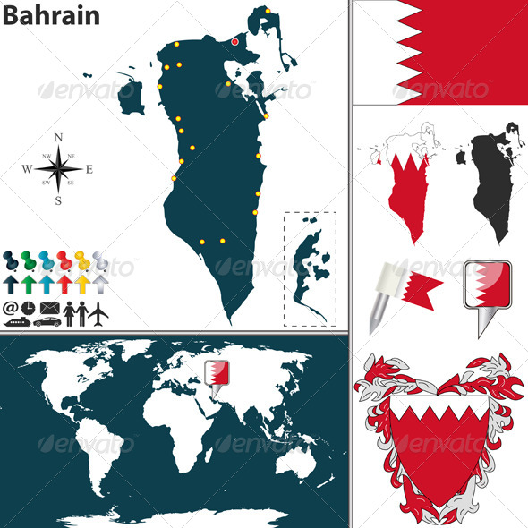 GraphicRiver Map of Bahrain 6741977