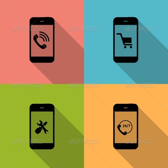 GraphicRiver Concept on Different Mobile Phone Icons 6742484