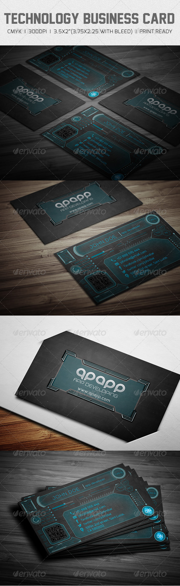 GraphicRiver Technology Business Card 6440518
