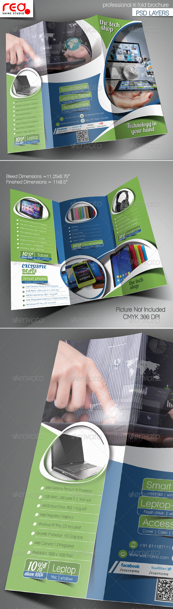 GraphicRiver Multipurpose Promotion Trifold Brochure Template 6743594