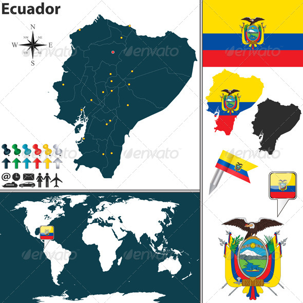 GraphicRiver Map of Ecuador 6744478