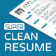 Super Clean Resume - GraphicRiver Item for Sale