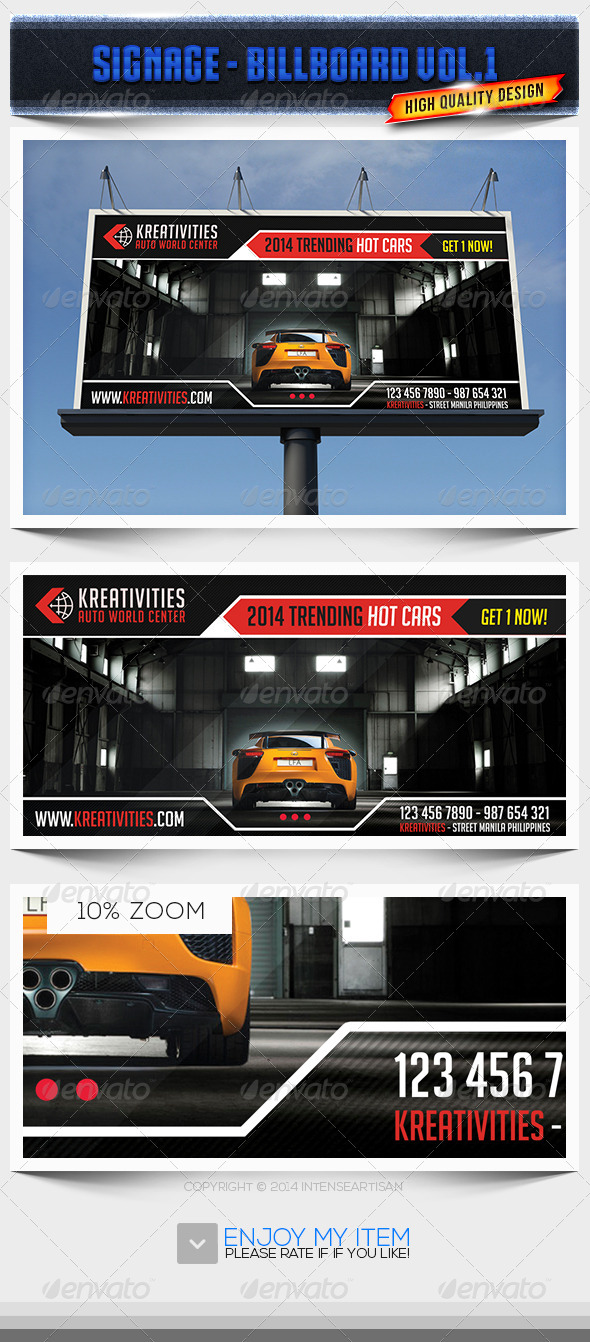 GraphicRiver Billboard Template Signage Vol.1 6745162