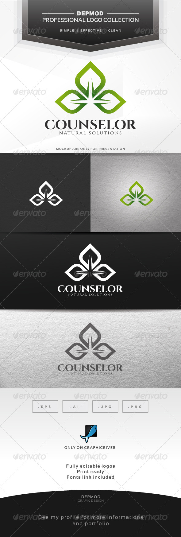 GraphicRiver Counselor Logo 6745189