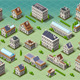 Set of Isometric European Buildings - GraphicRiver Item for Sale