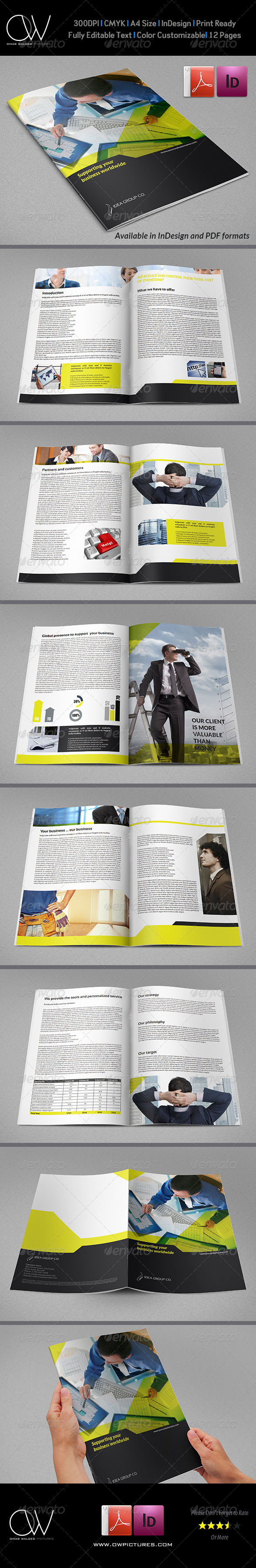GraphicRiver Corporate Brochure Template Vol.23 12 Pages 6745412