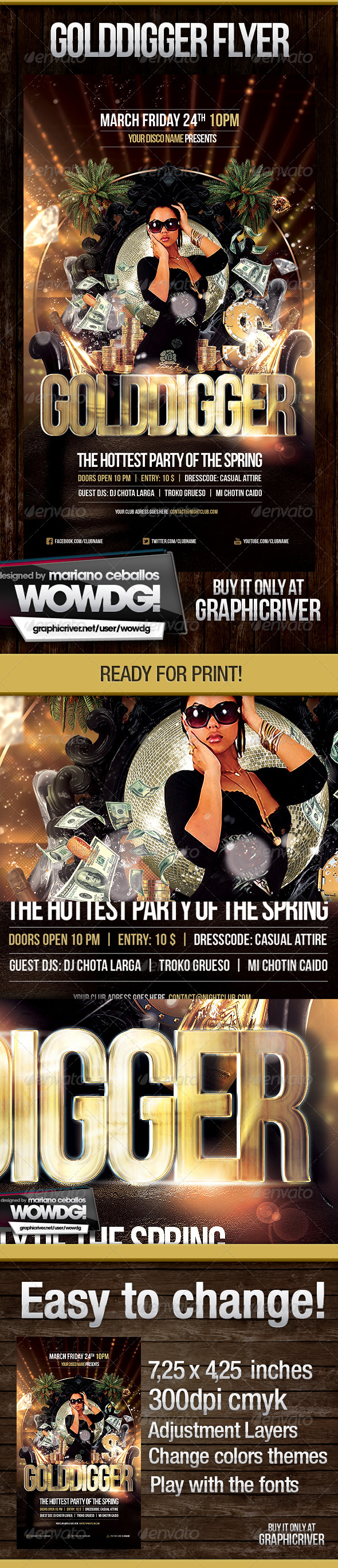 Gold Digger - Flyers Print Templates