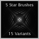 5 Stars Brushes - GraphicRiver Item for Sale