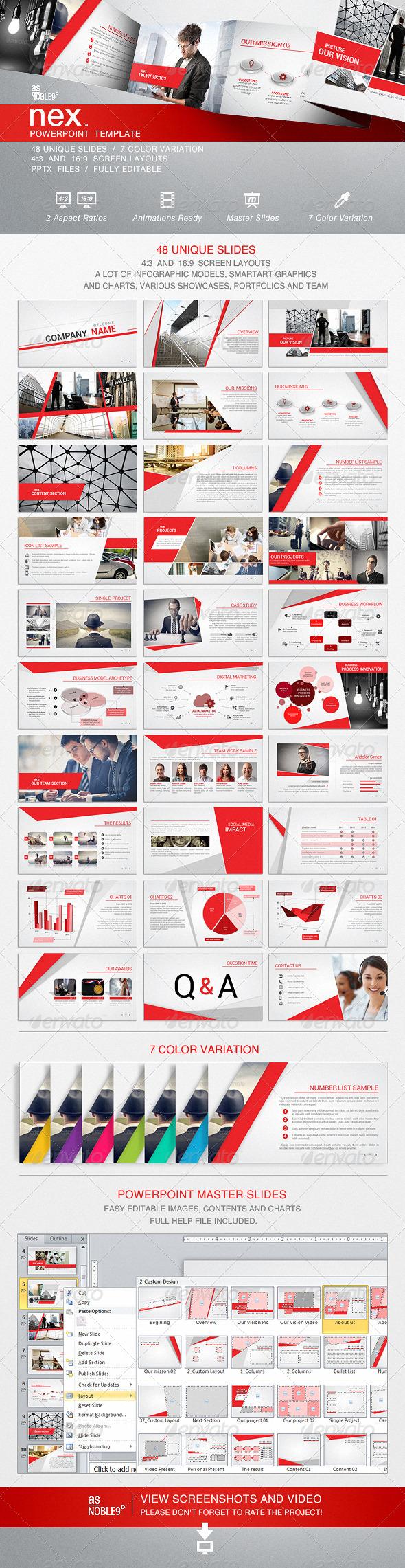 GraphicRiver NEX PowerPoint Template 6688274