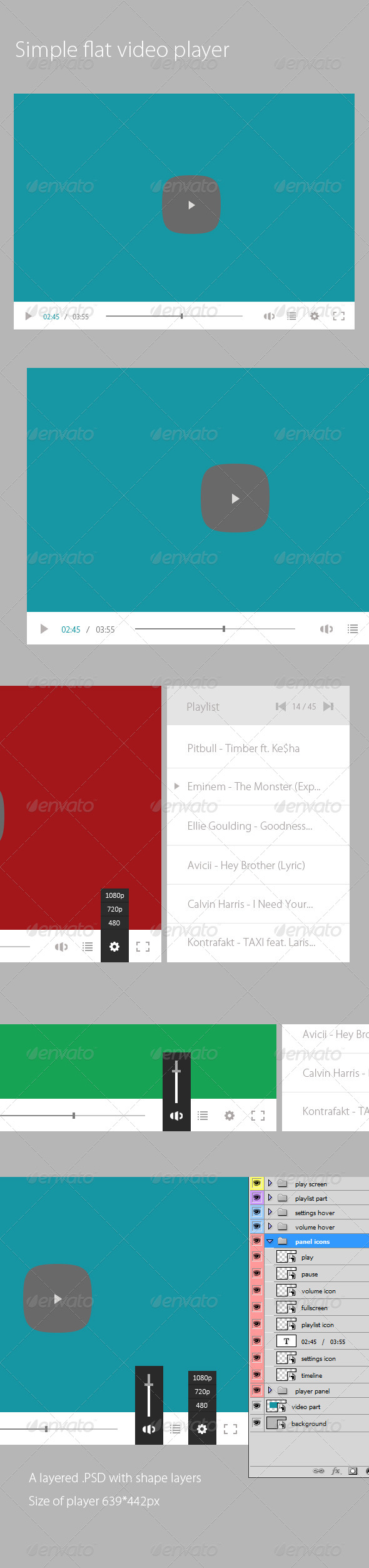 GraphicRiver Flat Video Player PSD 6735502