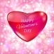 Glass heart for Happy Valentine Day Card.  - GraphicRiver Item for Sale