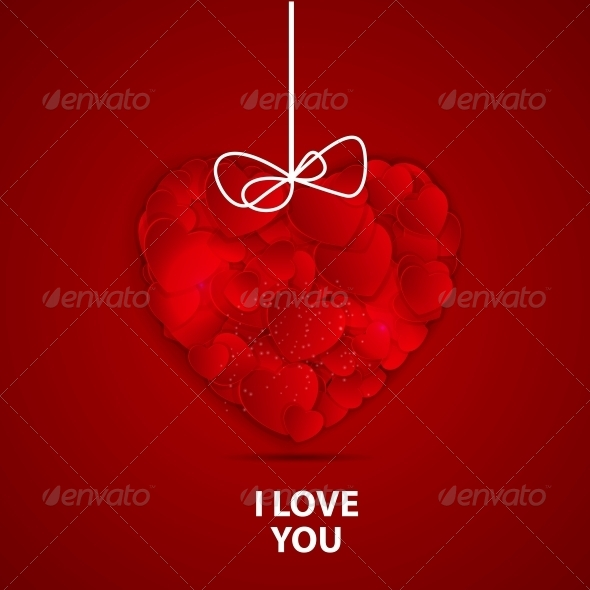 GraphicRiver Happy Valentines Day Card with Heart Vector Illustration 6747099