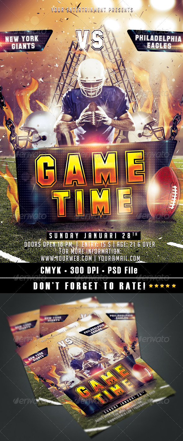 Game Time Flyer - Events Flyers