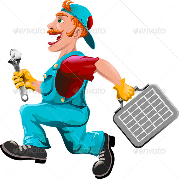 GraphicRiver The Hurrying Plumber 6747304